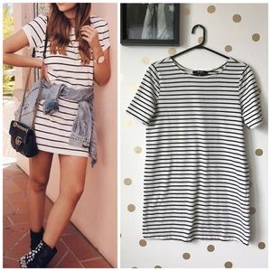 LuLu's Striped T-Shirt Dress
